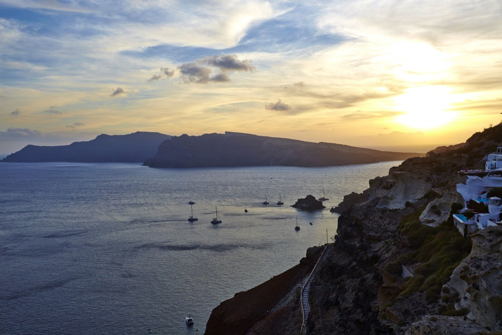 Sunset in Oia or the Epitome of Romance